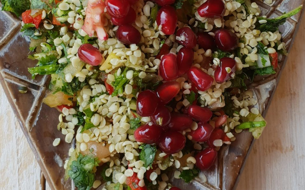 Tabbouleh Salad with Hemp seeds